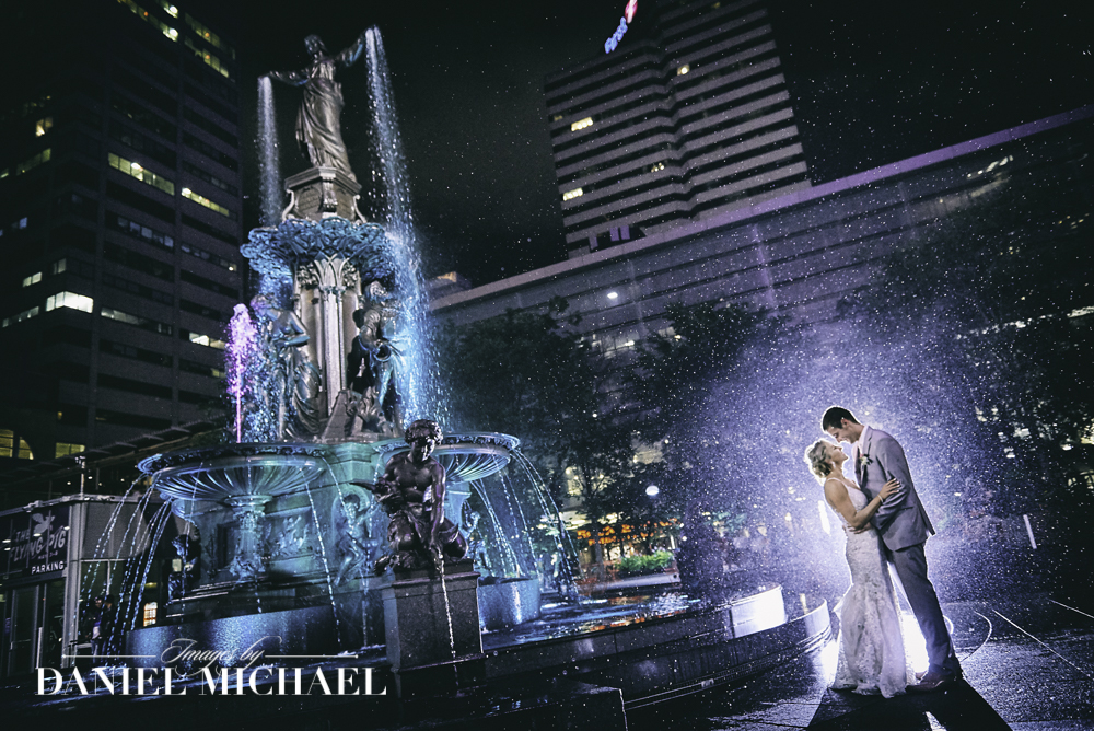 Fountain Square Best Wedding Photo Ever